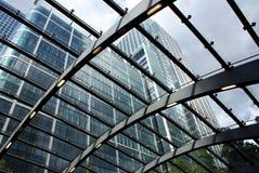 Κτήρια Canary Wharf στοκ εικόνα με δικαίωμα ελεύθερης χρήσης