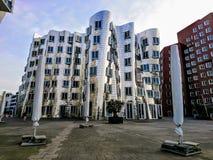 Κτήρια Gehry σε DÃ ¼ sseldorf Στοκ Φωτογραφία