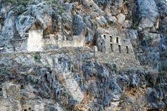 Κτήρια Incas στοκ εικόνες