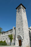 Κτήριο αιθουσών επιχορήγησης στο πανεπιστήμιο βασίλισσας ` s - Κίνγκστον - Καναδάς στοκ εικόνα
