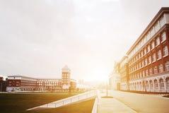Κτήριο αιθουσών στο κολλέγιο Στοκ φωτογραφίες με δικαίωμα ελεύθερης χρήσης