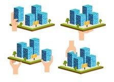 Κτήριο ακίνητων περιουσιών Διάνυσμα επιχείρησης ανάπτυξης Constraction Στοκ εικόνες με δικαίωμα ελεύθερης χρήσης