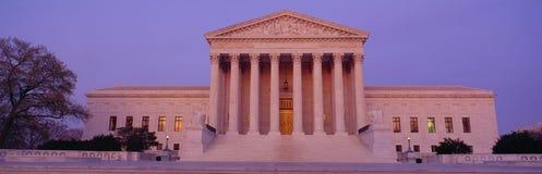 Κτήριο αμερικανικού ανώτατου δικαστηρίου, Ουάσιγκτον, συνεχές ρεύμα Στοκ Εικόνες