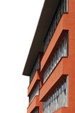 κτήριο ανασκόπησης τεράστιο πέρα από τα σχολικά άσπρα Windows Στοκ εικόνα με δικαίωμα ελεύθερης χρήσης