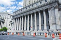Κτήριο ανώτατων δικαστηρίων πόλεων της Νέας Υόρκης στοκ εικόνες