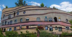 κτήριο διαμερισμάτων waldspirale Στοκ Φωτογραφία