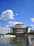 Κτήριο εθνικών θεάτρων και πάρκο πόλεων της Βουδαπέστης Στοκ φωτογραφία με δικαίωμα ελεύθερης χρήσης