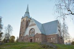 Κτήριο εκκλησιών στο χωριό Melnikovo, περιοχή του Λένινγκραντ στοκ φωτογραφία