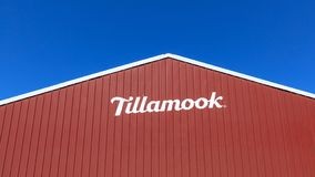 Κτήριο εργοστασίων τυριών Tillamook, στην κεντρική ακτή του Όρεγκον στοκ εικόνες