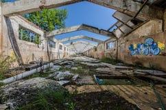 κτήριο εργοστασίων χωρίς στέγη στοκ φωτογραφία
