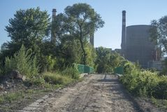 Κτήριο εργοστασίων στοκ φωτογραφίες με δικαίωμα ελεύθερης χρήσης