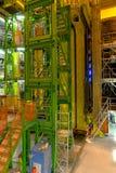 Κτήριο εσωτερικών στο Κέντρο Πυρηνικών Μελετών και Ερευνών (CERN) Στοκ Φωτογραφία