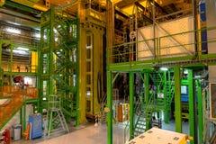 Κτήριο εσωτερικών στο Κέντρο Πυρηνικών Μελετών και Ερευνών (CERN) Στοκ Εικόνες