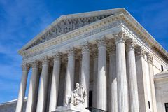 Κτήριο Ηνωμένου ανώτατου δικαστηρίου στοκ εικόνες