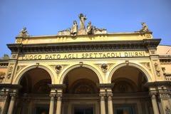 Κτήριο θεάτρων, Μπολόνια Ιταλία Στοκ φωτογραφία με δικαίωμα ελεύθερης χρήσης