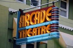Κτήριο θεάτρων του Art Deco Arcade στοκ εικόνες με δικαίωμα ελεύθερης χρήσης