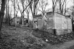 Κτήριο και καταστροφή Στοκ Εικόνες