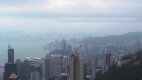 Κτήριο και ουρανοξύστες modernoffice Μ κατά τη μεγάλη άποψη πόλεων από την αιχμή Βικτώριας Εναέρια επιχειρησιακά κτήρια άποψης στ απόθεμα βίντεο