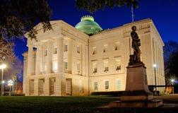 Κτήριο κρατικού Capitol βόρειου Caroina, δυτική σκεπαστή είσοδος πρόσοψης στοκ φωτογραφίες