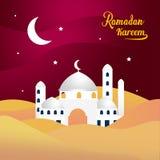 Κτήριο μουσουλμανικών τεμενών με την έρημο στοκ εικόνα με δικαίωμα ελεύθερης χρήσης