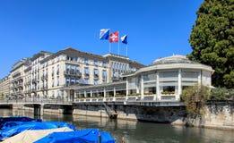 Κτήριο ξενοδοχείων λάκκας Au Baur στοκ φωτογραφία με δικαίωμα ελεύθερης χρήσης