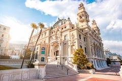 Κτήριο οπερών στο Μονακό στοκ φωτογραφία