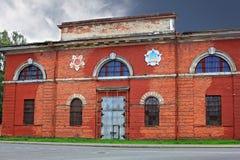 Κτήριο οπλοστασίων σε Kronstadt, Ρωσία Στοκ Φωτογραφίες