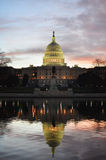 Κτήριο Ουάσιγκτον DC - Capitol και αντανάκλαση Στοκ φωτογραφία με δικαίωμα ελεύθερης χρήσης