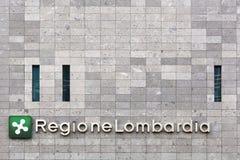 Κτήριο περιοχών της Λομβαρδίας στο Μιλάνο, Ιταλία Στοκ φωτογραφία με δικαίωμα ελεύθερης χρήσης