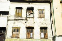 κτήριο που καταστρέφεται Στοκ εικόνα με δικαίωμα ελεύθερης χρήσης