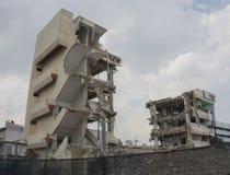 κτήριο που καταστρέφεται Στοκ Φωτογραφίες