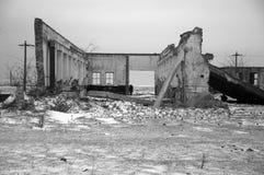 κτήριο που καταστρέφετα&io Στοκ Φωτογραφία