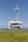 Κτήριο που χρησιμοποιείται για τις θαλάσσιες επικοινωνίες στο γερμανικό isla Helgoland Στοκ Εικόνα