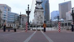 Κτήριο πρωτεύουσας της Ιντιάνα άποψης, Ινδιανάπολη 4K απόθεμα βίντεο