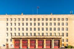 Κτήριο πυροσβεστικών σταθμών στην Αγγλία του Νόρθαμπτον Στοκ Φωτογραφίες