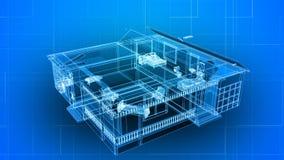 Κτήριο πλαισίων καλωδίων απεικόνιση αποθεμάτων
