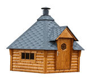 Κτήριο σαουνών κήπων ξυλείας Στοκ εικόνα με δικαίωμα ελεύθερης χρήσης