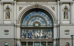 Κτήριο σιδηροδρομικών σταθμών της Βουδαπέστης, Ουγγαρία - Keleti Στοκ φωτογραφία με δικαίωμα ελεύθερης χρήσης
