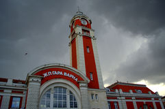 Κτήριο σιδηροδρομικών σταθμών πόλεων της Βάρνας Στοκ Φωτογραφίες