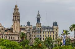 Κτήριο ταχυδρομείου στην πόλη της Βαρκελώνης στοκ εικόνα