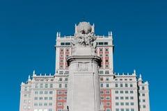 Κτήριο της Ισπανίας στη Μαδρίτη Στοκ φωτογραφία με δικαίωμα ελεύθερης χρήσης