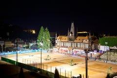 Κτήριο της Ολυμπία από τον αρχιτέκτονα του Paul Brang με τα γήπεδα αντισφαίρισης στο φ Στοκ Φωτογραφίες