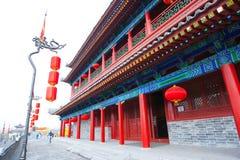 Κτήριο τοίχων πόλεων Xian. Xian, Κίνα Στοκ φωτογραφία με δικαίωμα ελεύθερης χρήσης
