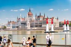 Κτήριο τουριστών και των Κοινοβουλίων στη Βουδαπέστη, Ουγγαρία, Στοκ φωτογραφία με δικαίωμα ελεύθερης χρήσης