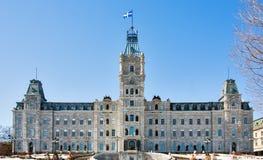 Κτήριο του Κοινοβουλίου του Κεμπέκ στοκ φωτογραφία