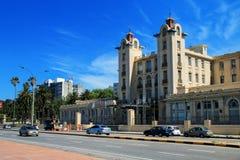 Κτήριο του Κοινοβουλίου του MERCOSUR κατά μήκος της τράπεζας του Ρίο de Λα Plata ι Στοκ εικόνα με δικαίωμα ελεύθερης χρήσης