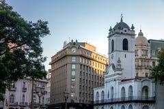 Κτήριο του Μπουένος Άιρες Cabildo, αποικιακά Δημαρχείο και το Συμβούλιο των δικαστών του έθνους - Μπουένος Άιρες, Αργεντινή Στοκ Φωτογραφία