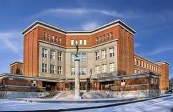 Κτήριο τούβλου Στοκ φωτογραφίες με δικαίωμα ελεύθερης χρήσης