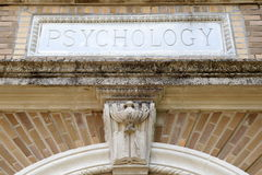 Κτήριο ψυχολογίας στοκ φωτογραφίες
