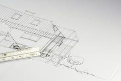 κτήριο 02 σχεδιαγραμμάτων Στοκ Φωτογραφίες